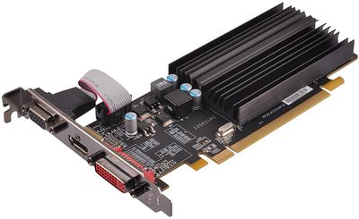 Photo of an XFX AMD Radeon HD 5450 1GB GDDR3 VGA/DVI/HDMI Low Profile PCI-Express Video Card (ONXFX1PLS2)