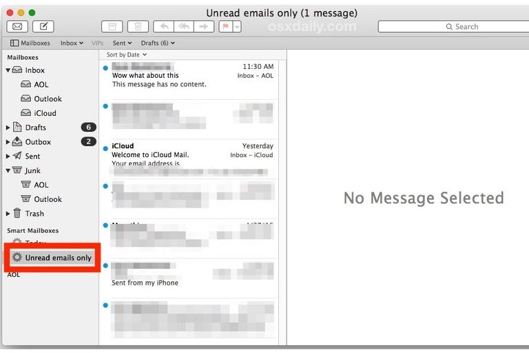 OSX email screenshot