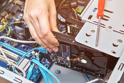 Installation of hard drive of desktop computer