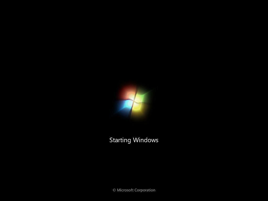 Windows 7 splash screen