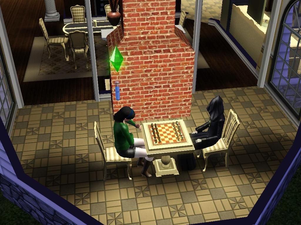 Playing Chess with the Grim Reaper in Sims 3