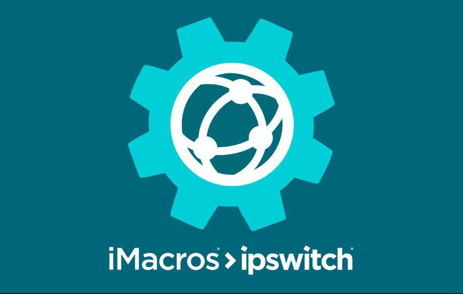 The iMacros logo on a turquoise background