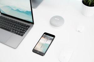 iPhone and Google Home Mini
