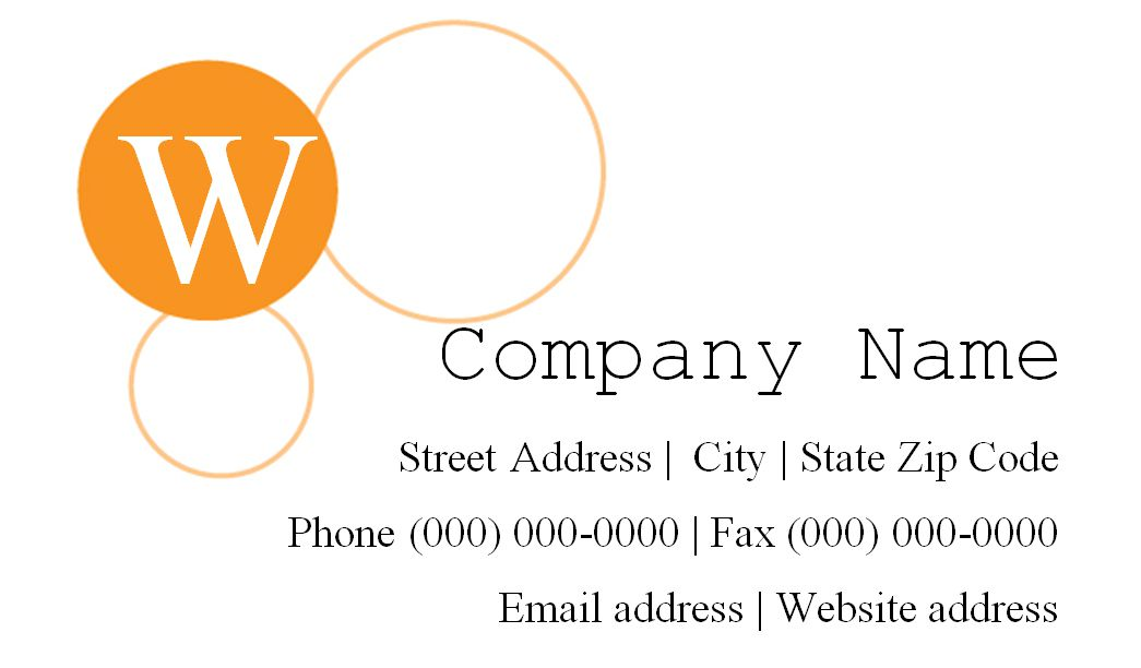 a white and orange business card template - Template For Business Cards