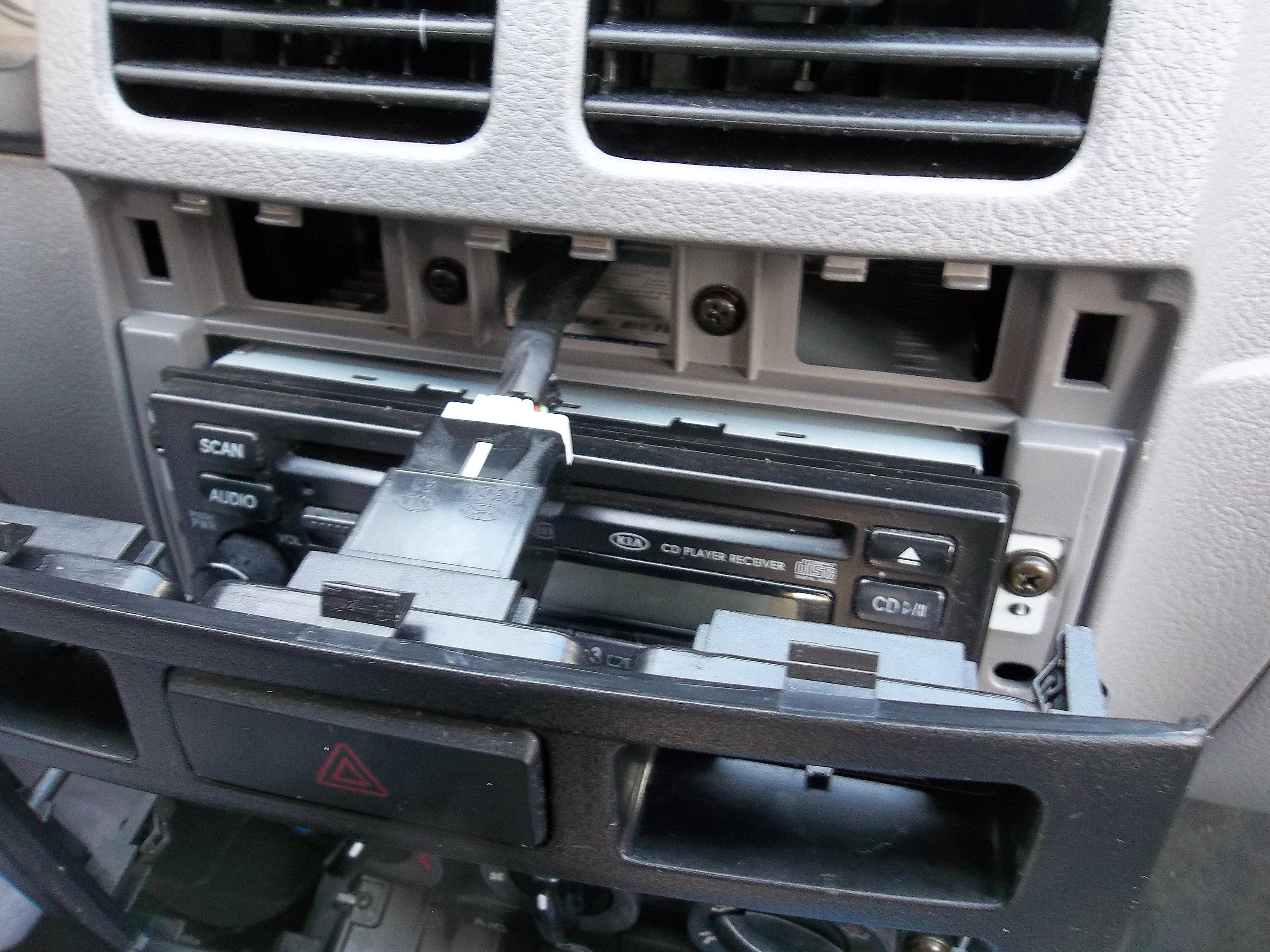 Installing A New Head Unit Car Stereo Audio Radio Wiring Abbreviations Kio Rio Dash Trim