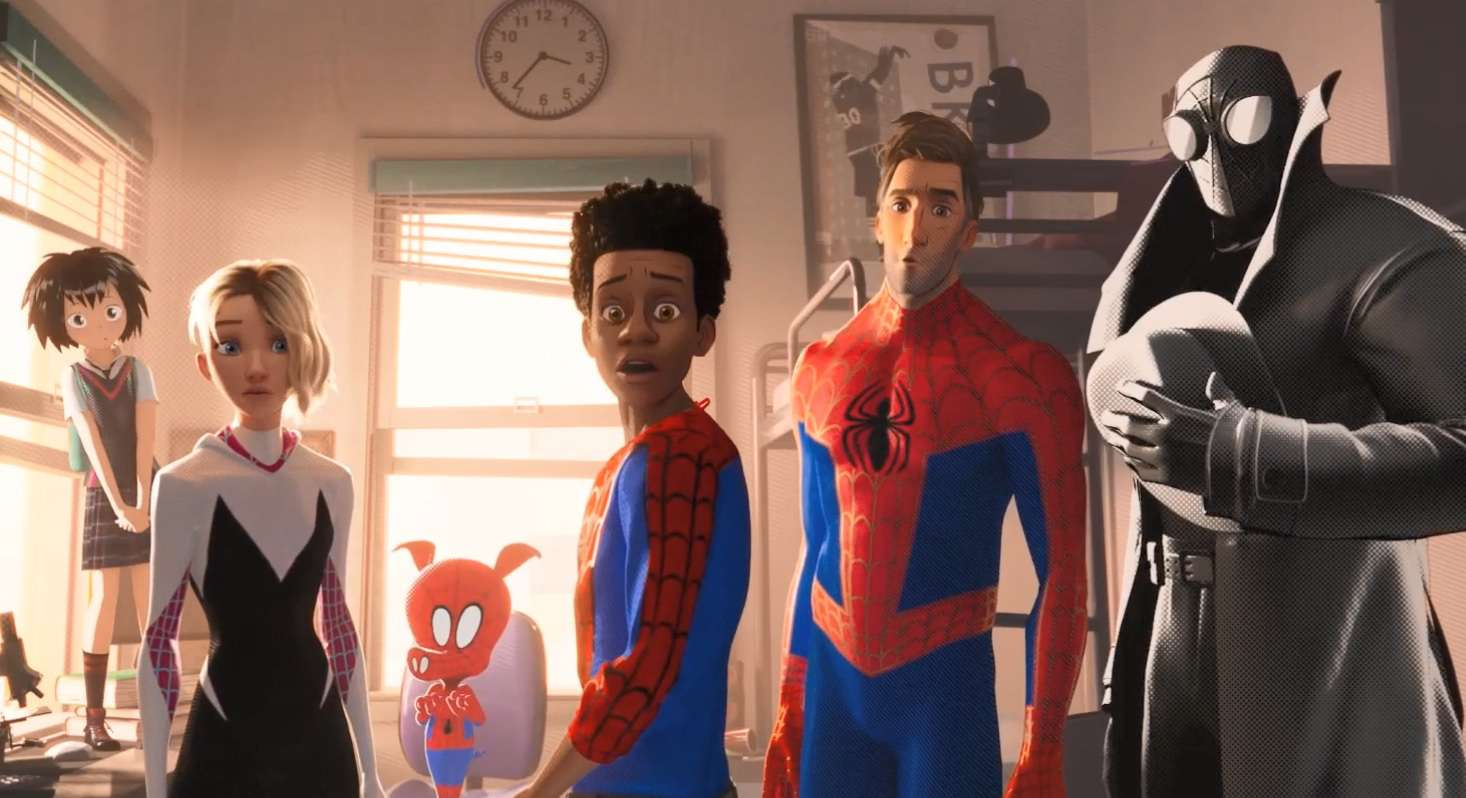 Main characters of Spider-Man: Into the Spider-Verse (2018)