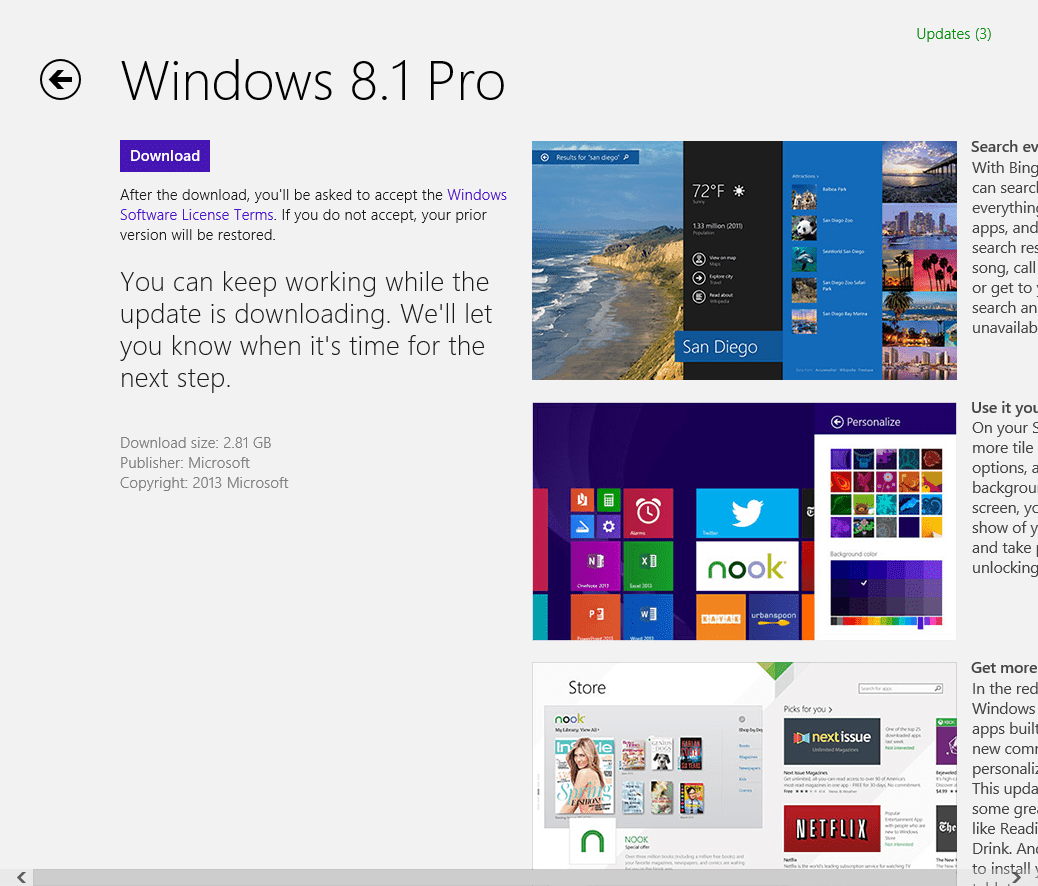 update from windows 8 to windows 8.1