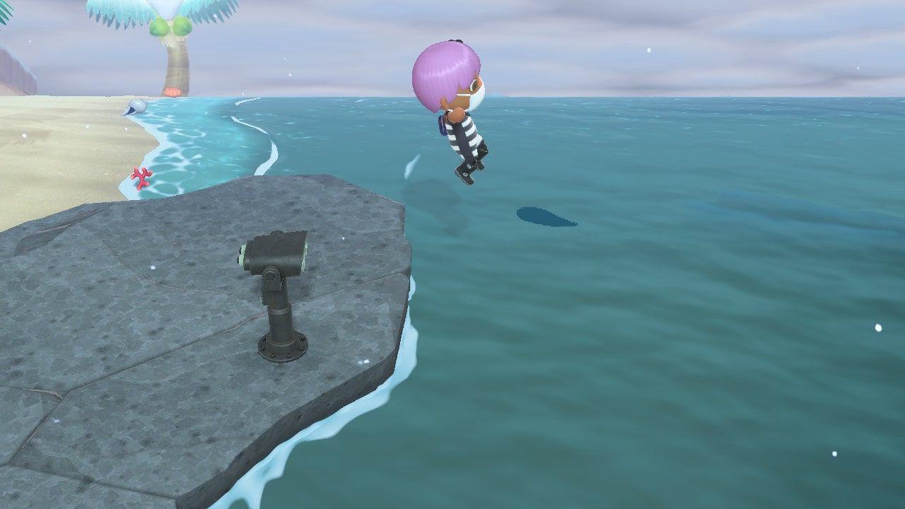 Animal Crossing: New Horizons dive