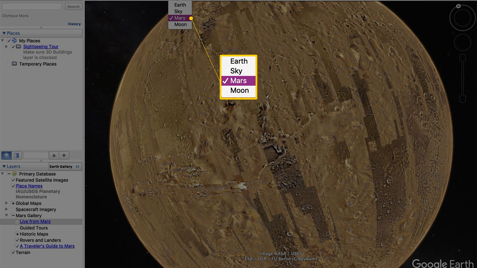 How To Visit Mars In Google Earth Pro
