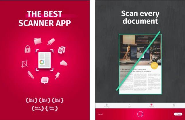 SwiftScan iPad scanner app