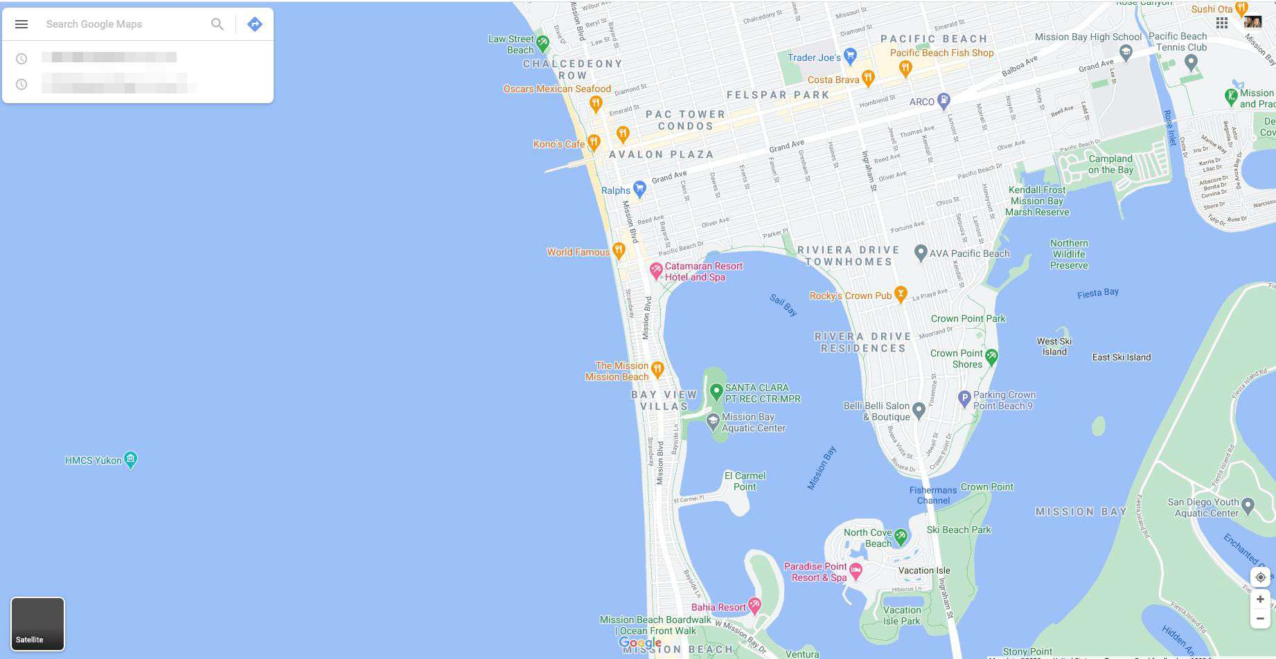 Navigate to Google Maps in your web browser.