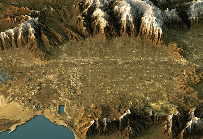 Topographic map of Salt Lake City, Utah