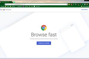 Chrome's landing page