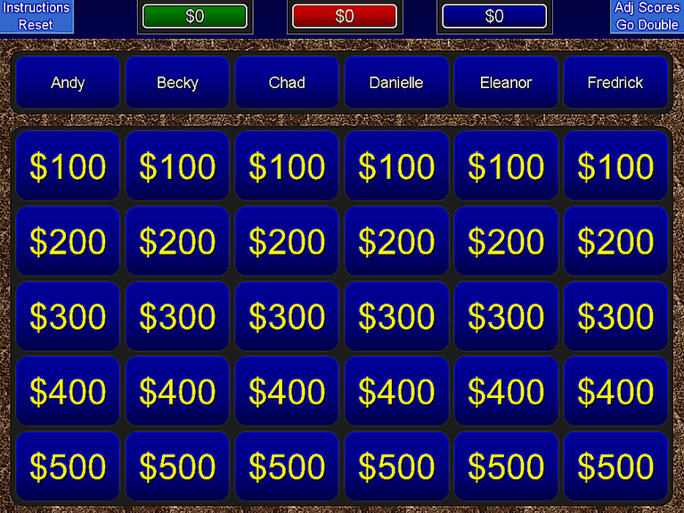 11 free jeopardy templates for the classroom screenshot of a blue jeopardy powerpoint template toneelgroepblik Gallery