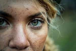 High resolution image of a woman's face