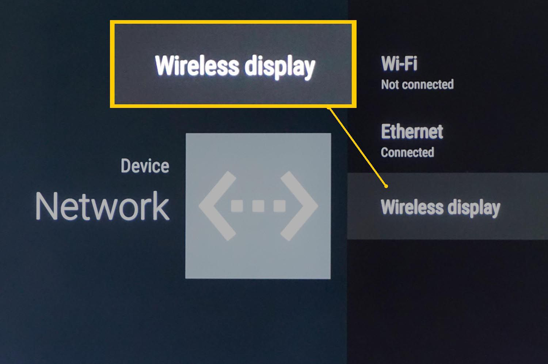 Leeco TV Wireless Display/Screen Mirroring Option