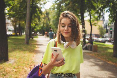 Girl on smartphone