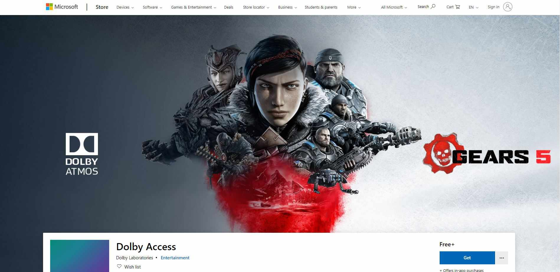 Dolby Access in the Microsoft Store