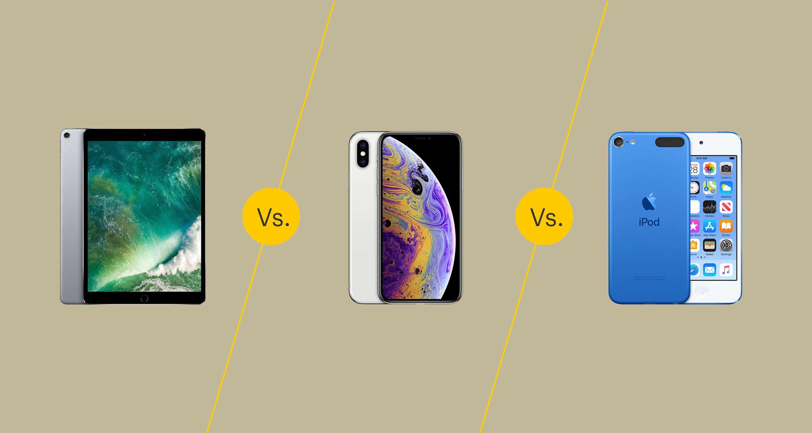 iPad vs iPhone vs iPod Touch