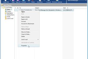 how to stop outlook 2007 from marking items for deletion