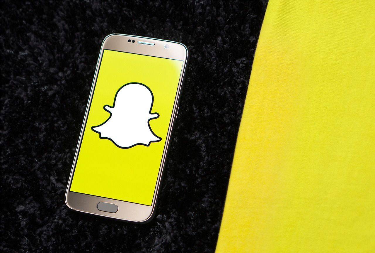Snapchat on a mobile phone