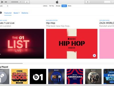 The main iTunes Radio screen
