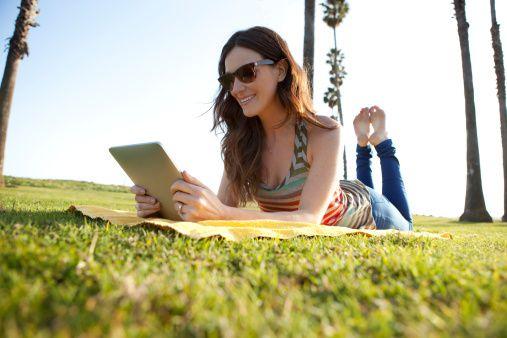 Woman Browsing iPad