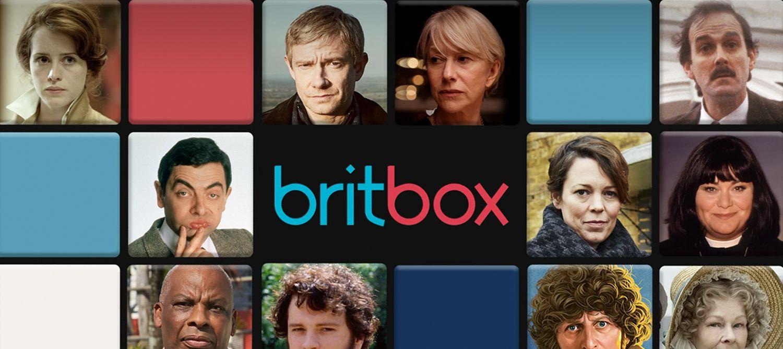 BritBox splash screen showing British actors