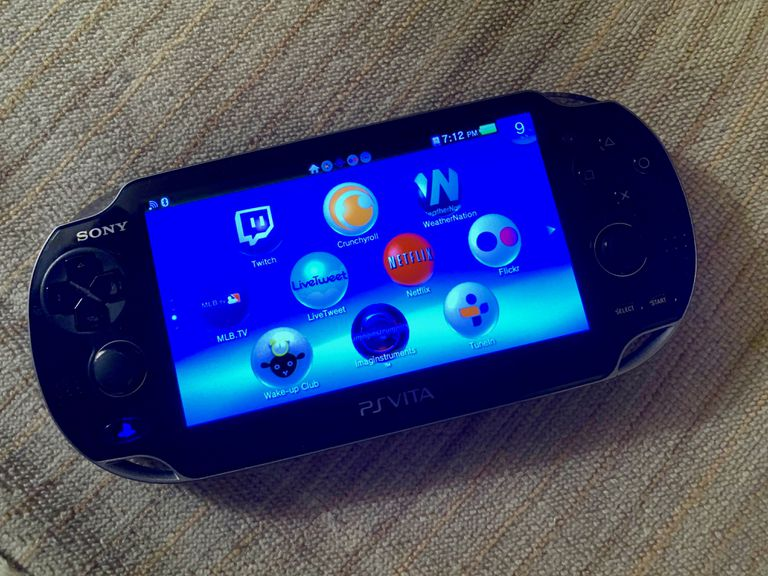 PS Vita with app icons onscreen