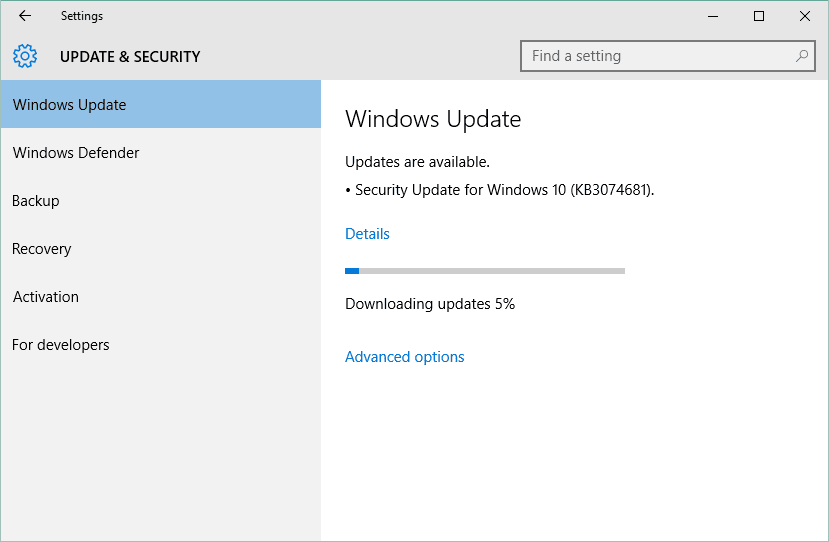 how to activate windows update windows 10