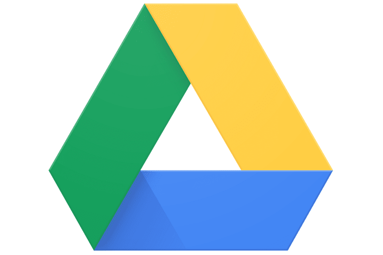 Picture of the Google Drive logo
