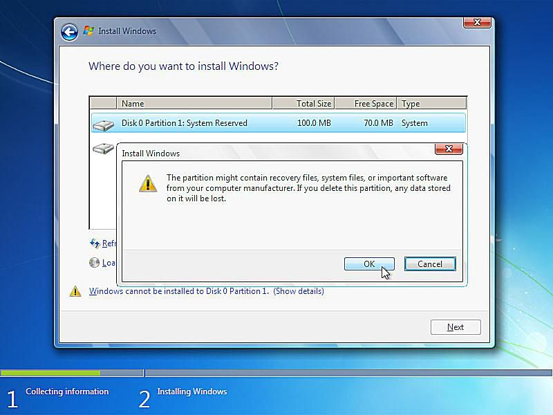 clean install windows 7 upgrade on new hard drive