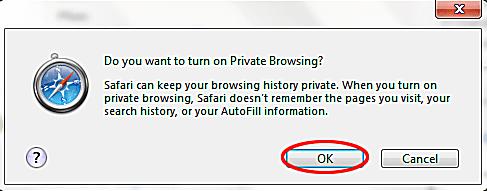 safari windows private browsing