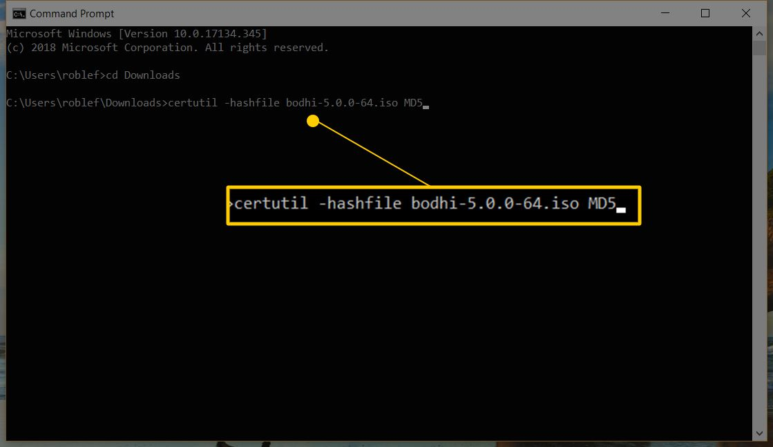 Validating the MD5 Checksum of a File