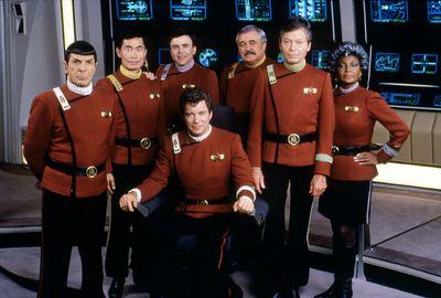 Actors on set of Star Trek V: The Final Frontier (1989)