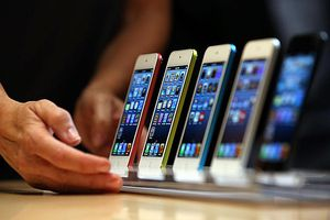 iPod touch on display