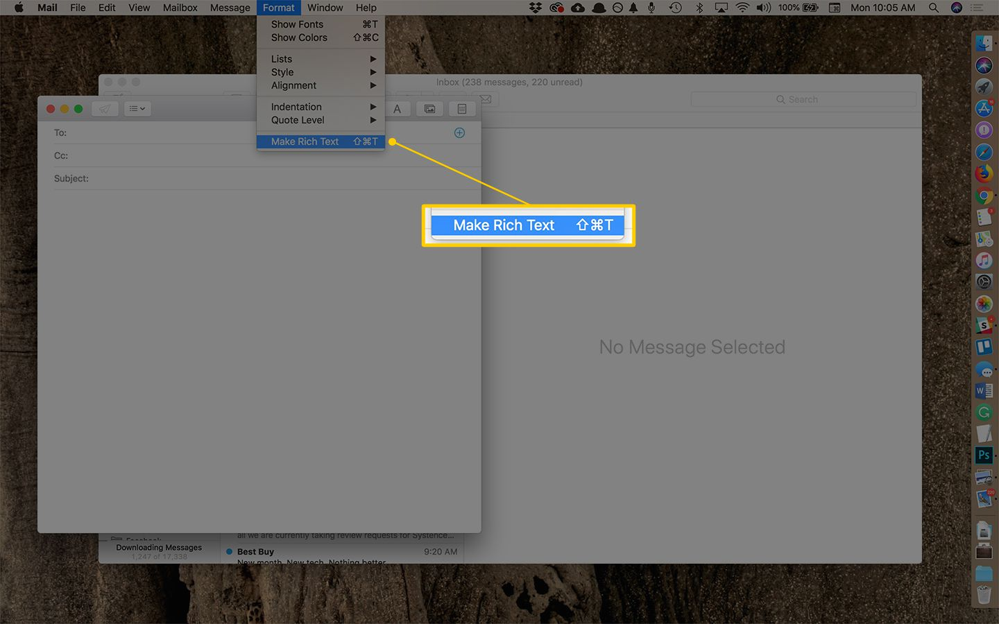 How to Insert a Link in an Email With Mac OS X Mail