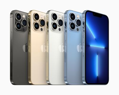 The iPhone 13 series