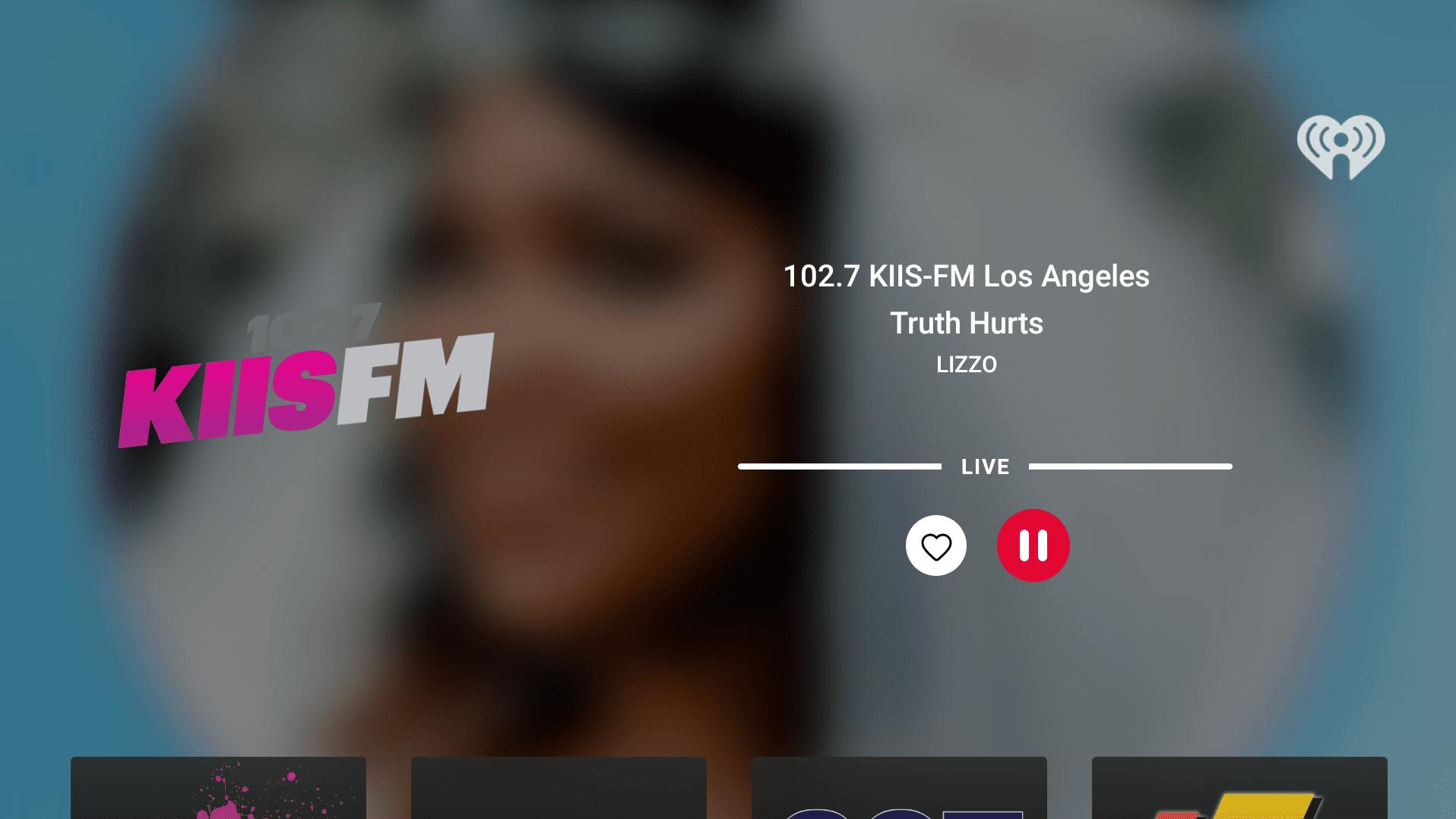 iheartradio app interface