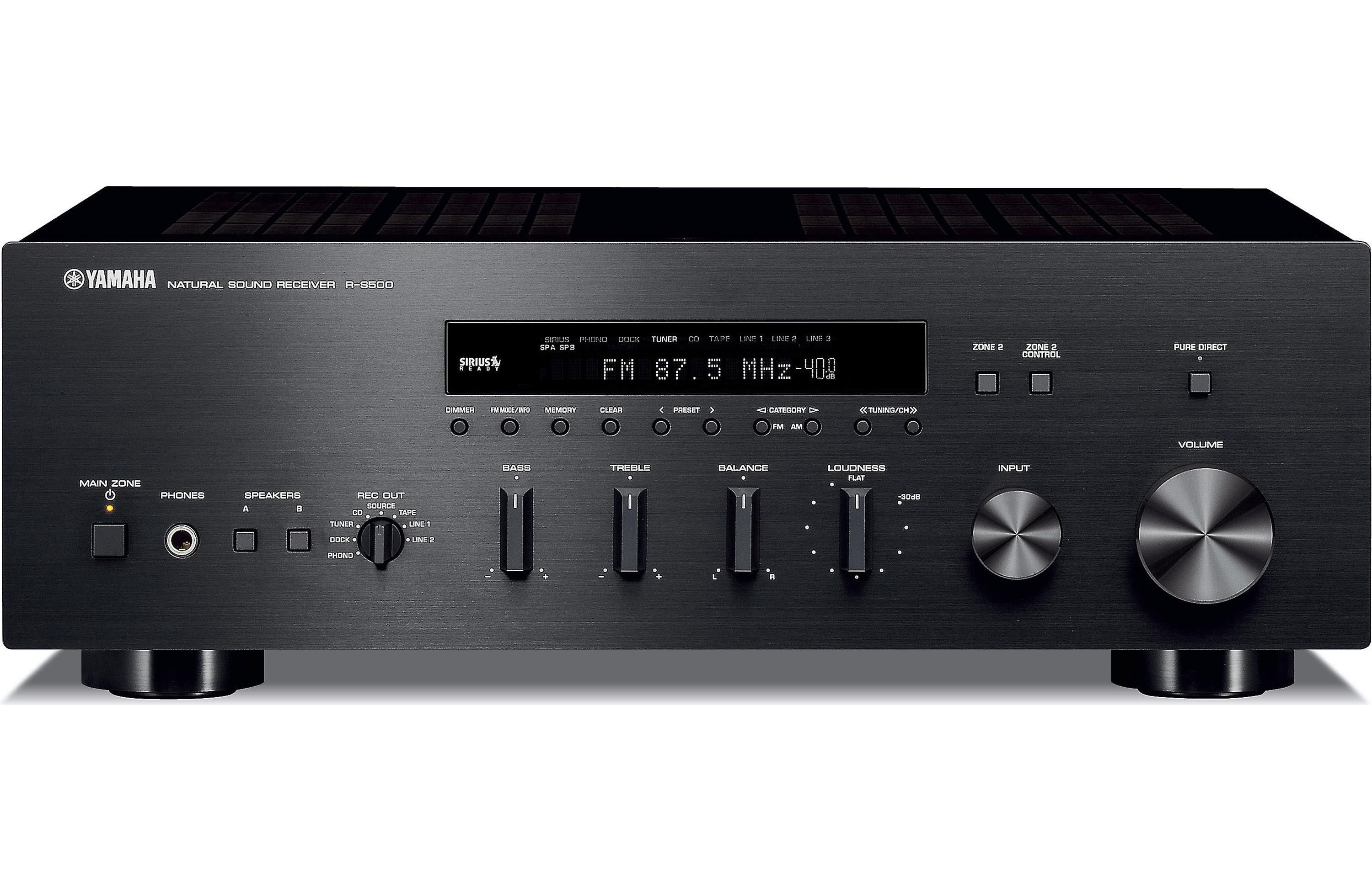 Review Yamaha R S700 Two Channel Stereo Receiver Audio Power Amp Mid High Amplifier Portable Speaker