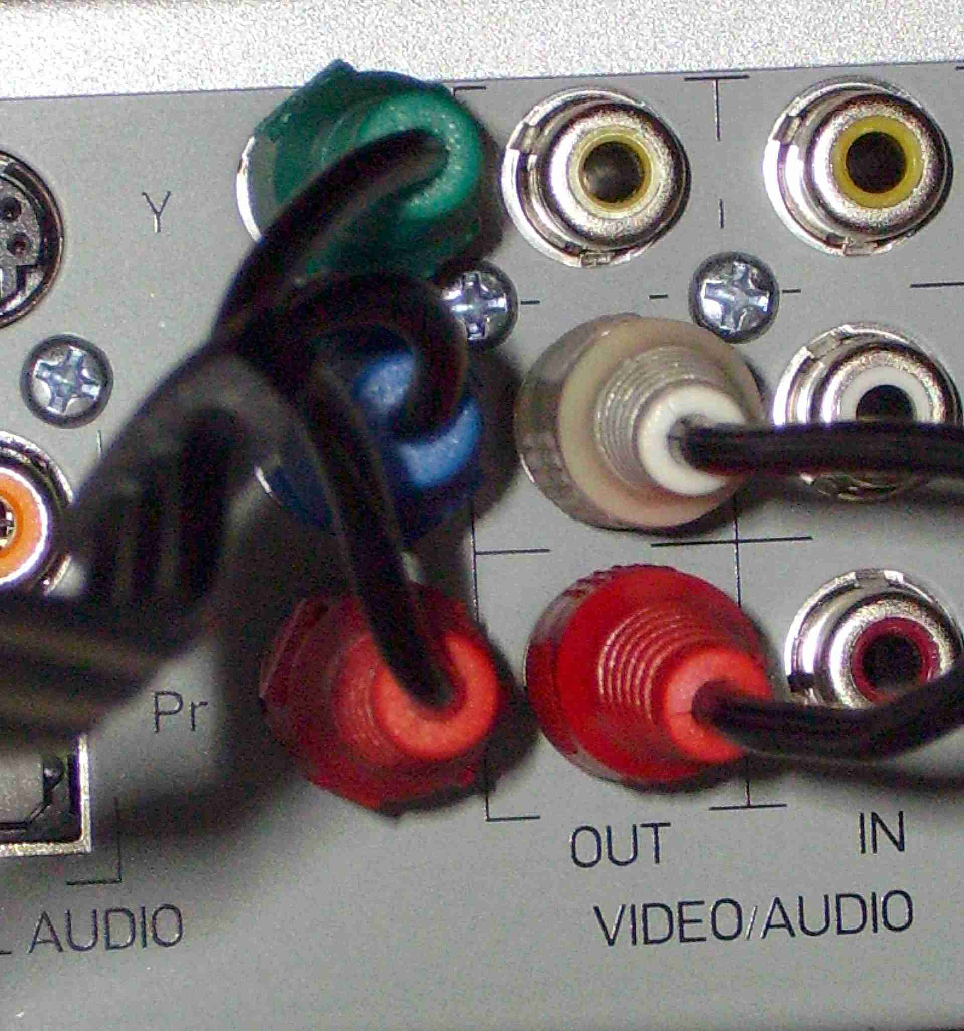 Carefully plug your cables in