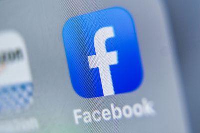 Facebook app icon on mobile screen