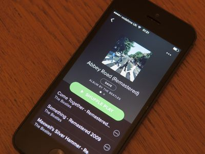 Spotify on a cell phone