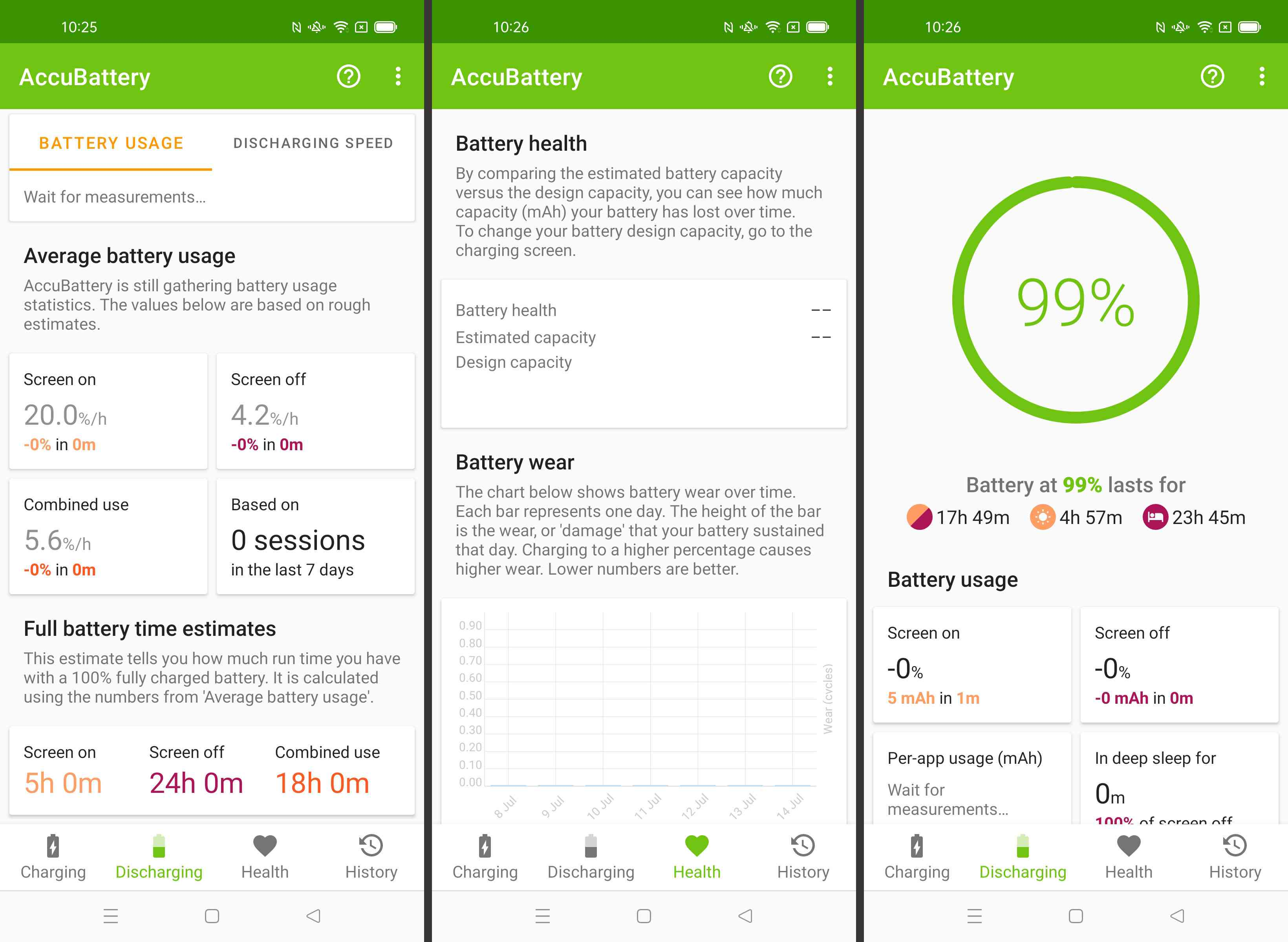 Steps required to view battery health on Android via AccuBattery