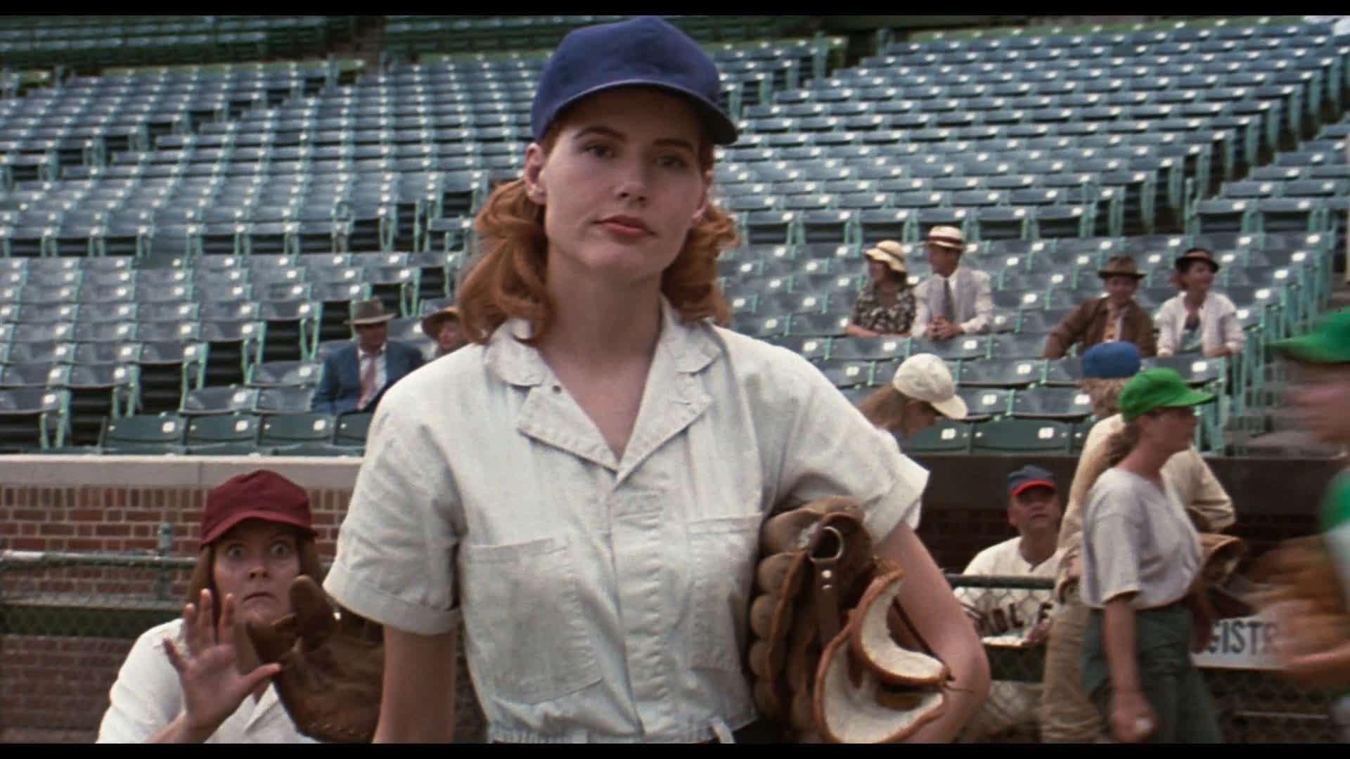 Geena Davis as Dottie Hinson in A League of Their Own (1992)