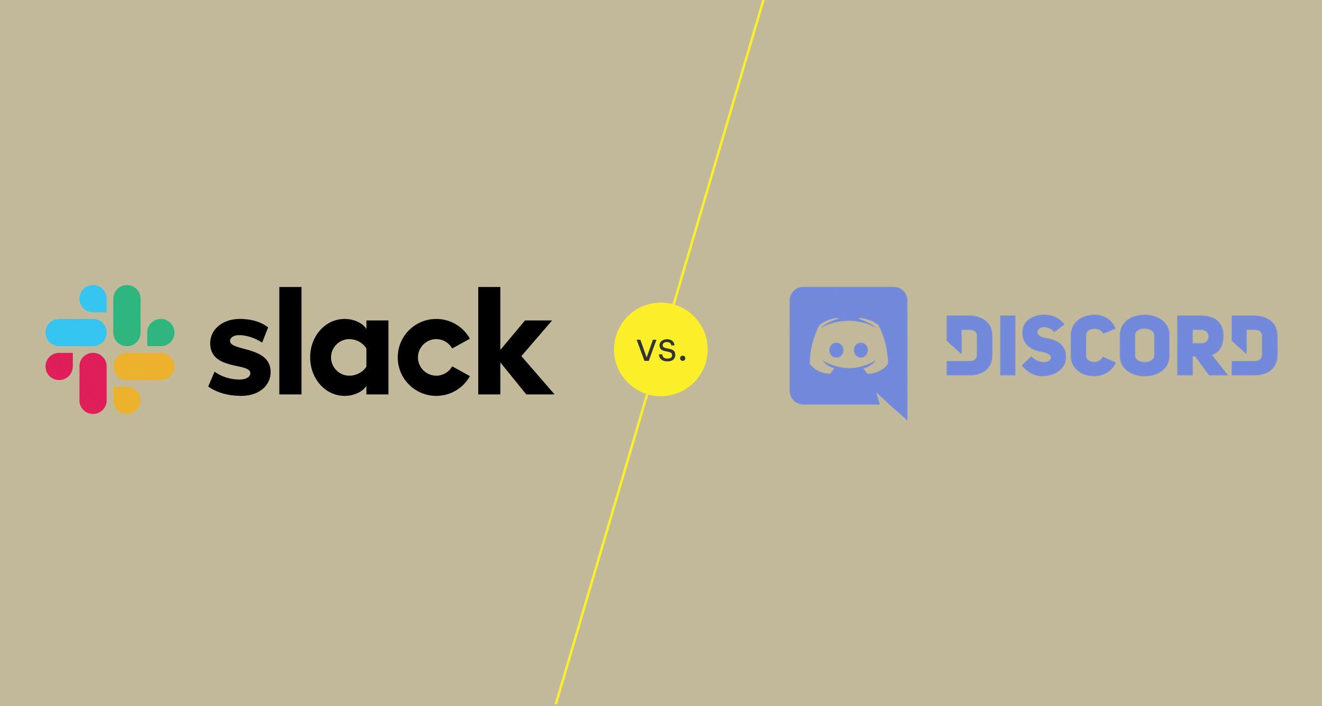 Illustration of Slack vs Discord