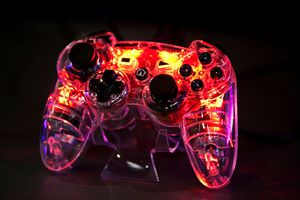 Modified Playstation controller that lights up