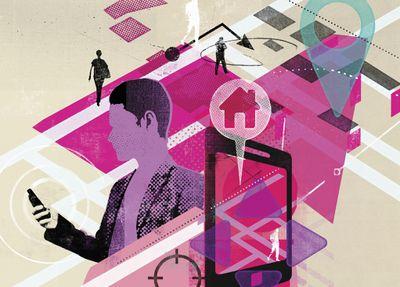 smartphone maps navigation illustration