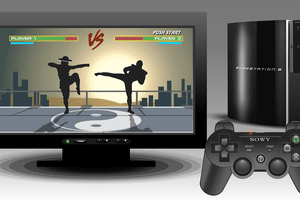 Photo of a complete Playstation 3 system