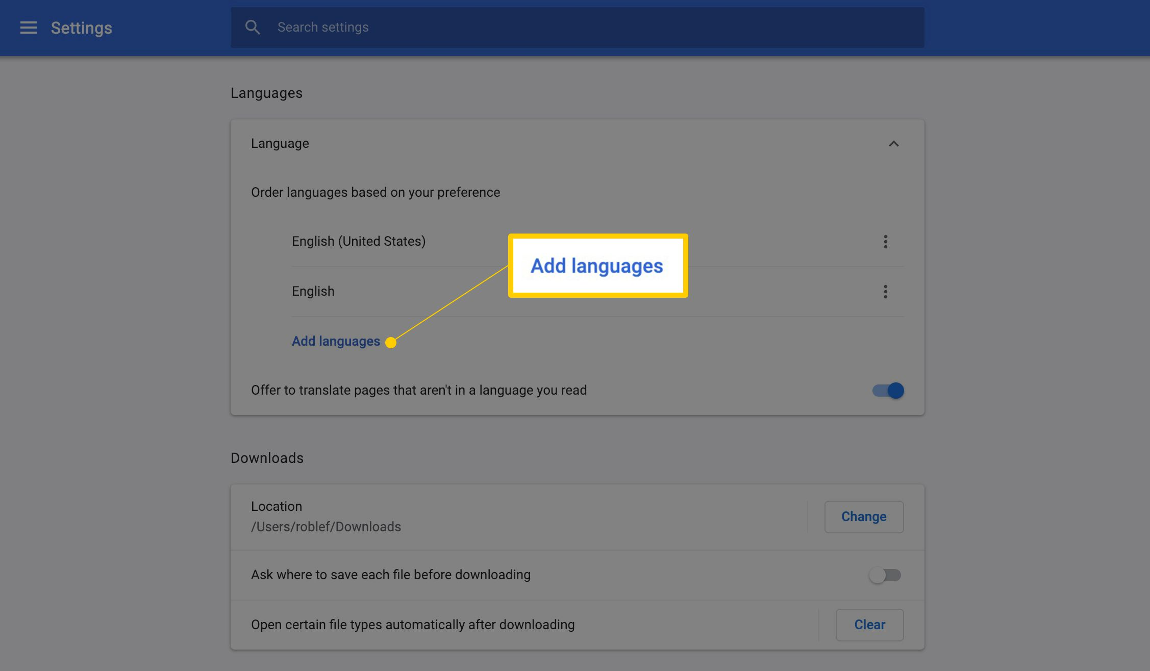 How to Change the Default Languages in Google Chrome